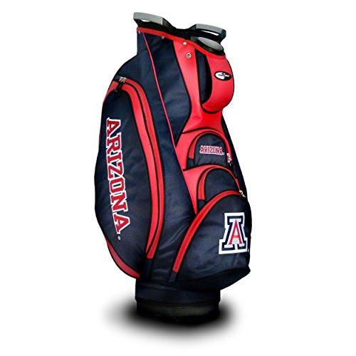 Team Golf NCAA Arizona Wildcats Victory Golf Cart Bag, 10-way Top with Integrated Dual Handle & External Putter Well, Cooler Pocket, Padded Strap, Umbrella Holder & Removable Rain Hood