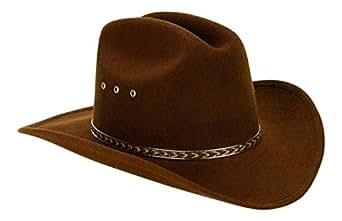 Child Cowboy Hat (Brown) Elastic One Size