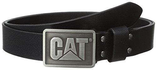 Caterpillar Men's Shields Belt, Black, (Black Cat Belt Buckle)