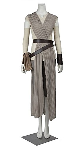Women Costume For Rey Adult Halloween Party Deluxe Outfit Fullset (S)