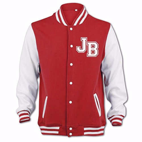 Jb Femme Girlfriend Rouge Bang Blouson Clothing Tidy D'université TqqSUwY