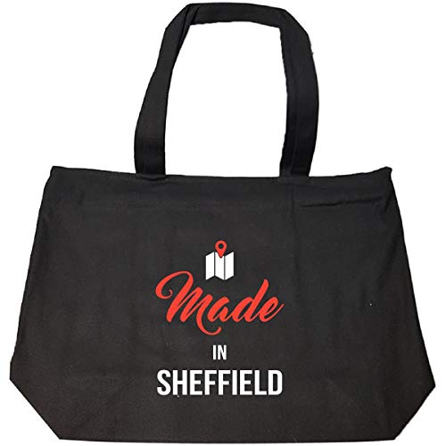 (Made In Sheffield City Funny Gift - Tote Bag With Zip)
