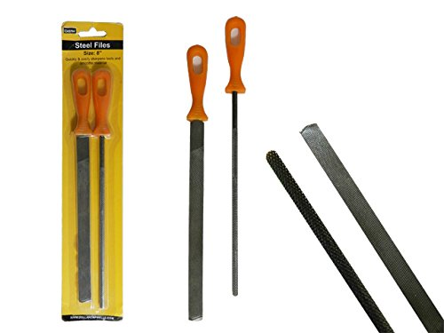 2PC Steel Files Size: 8'' L each , Case of 72