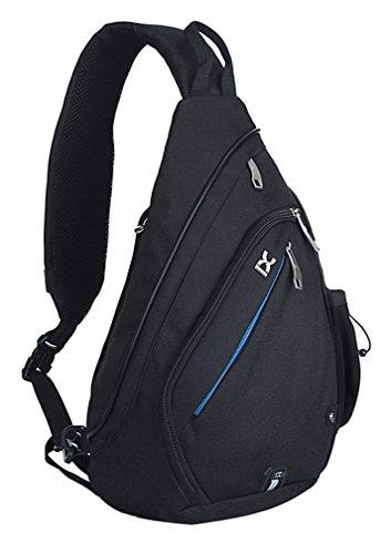 Pioneeryao 19'' Sling Bag Backpack Crossbody Bag Shoulder Bag (Black)