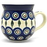 Polish Pottery Mug - 11 oz. Bubble - Peacock