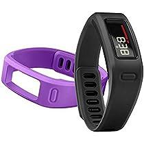 Garmin Vivofit Fitness Tracker w/ 4 Bands Total (2 Large, 2 Small Purple & Black)