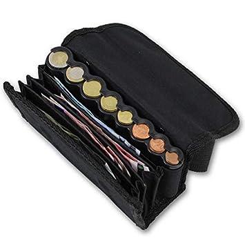 effektivo 10575 Cartera con dispensador de monedas y Transporte Cinturón Negro: Amazon.es: Oficina y papelería
