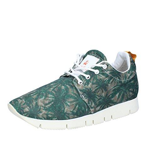 Leather Crown Zapatos Hombre Sneakers Verde Textil AJ999 (39 EU)