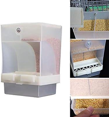Abree Comedero Pajaros Automático, Comederos para Pajaros Alimentador de Pájaros Contenedor de Alimentos para Periquito Canario Cockatiel: Amazon.es: Jardín