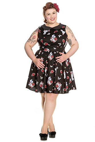Schwarz Kleid Bunny schwarz 4672 MINI DRESS Hell DRINK ME UO8qwB8P