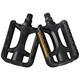 Bicycle Pedals - Mountain Bike Pedals - Road Bike Pedals - 9/16 Inch Universal Pedals - Flat Platform Pedals - Lightweight Bike Pedals Nylon Fiber Anti-skid Pedals - Bike Accessories for BMX/MTB Bike