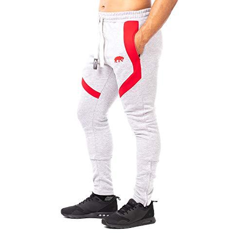 Pantalones de chándal SMILODOX corte ajustado para hombre a29c8116ae105