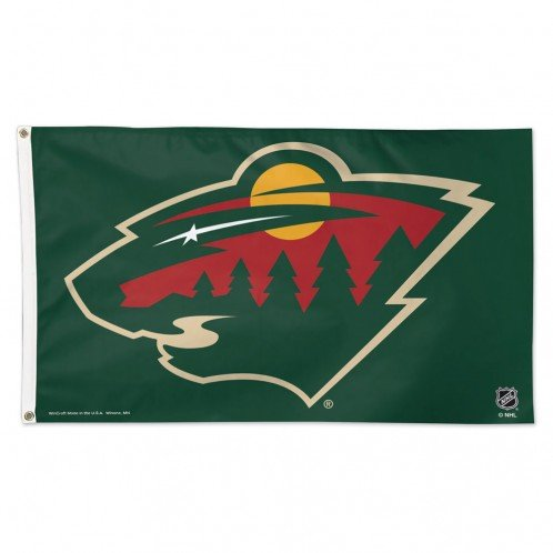 WinCraft NHL Minnesota Wild Deluxe Flag, 3' x 5'