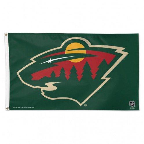 Nhl Minnesota Wild Deluxe Flag  3 X 5