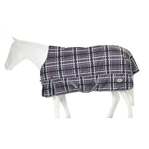 Pessoa 1200D Turnout Sheet 76 Black/Clay Plaid