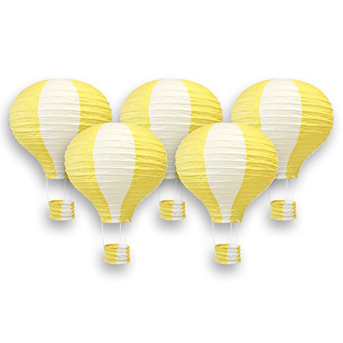 Yellow Hot Air Balloon - Just Artifacts Decorative 12