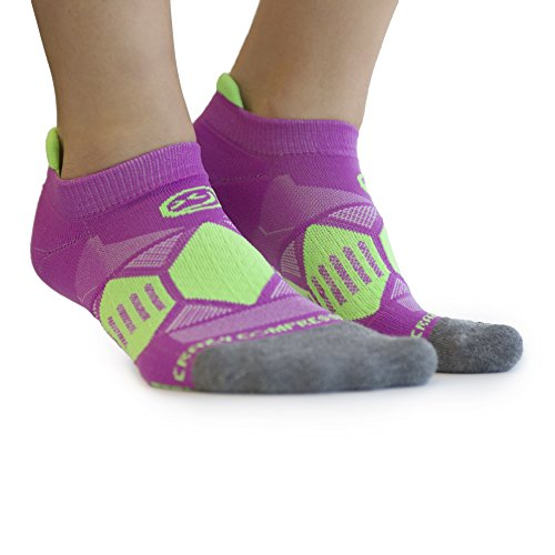 Crazy Compression Runners - Elite Compression Running Socks (SM/MD (5-9), Berry & Lime)