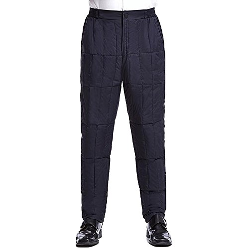 162ea0d58ba KINDOYO Men Thick Keep Warm Winter Outdoor Goose Down Pants Size  M-3XL (