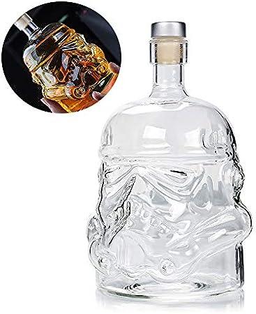 Decantador de jarra de botella de whisky creativo transparente, vaso de agua destilada de whisky, botella de agua de cristal transparente personalizada sin plomo, adecuada para whisky escocés