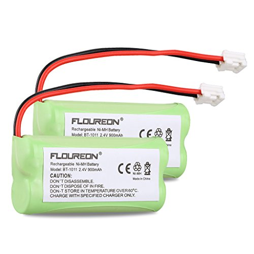 Floureon 2 Packs Rechargeable Cordless Phone Batteries for BT1011 BT-1011 BT1018 BT-1018 BT1022 BT-1022 BT184342 BT284342 BT18433 BT28433