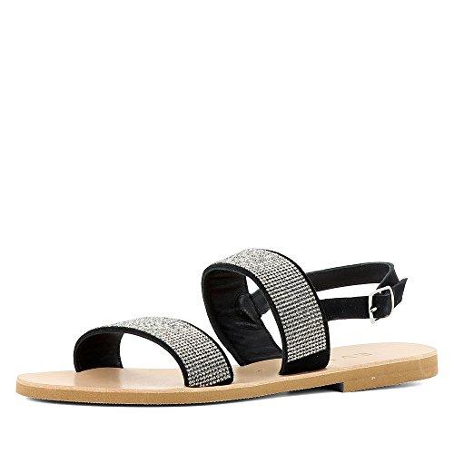 Evita Shoes Greta Damen Sandale Rauleder Schwarz