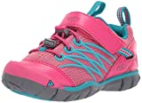 KEEN Unisex-Kid's Chandler CNX Hiking Shoe, Bright Pink/Lake Green, 5 M US Big Kid