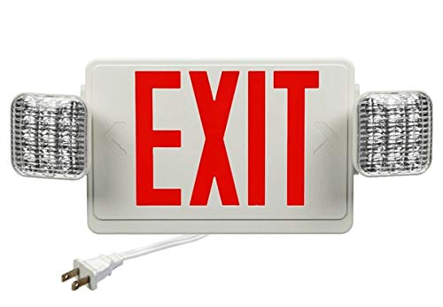 - Corded Exit Sign Combo