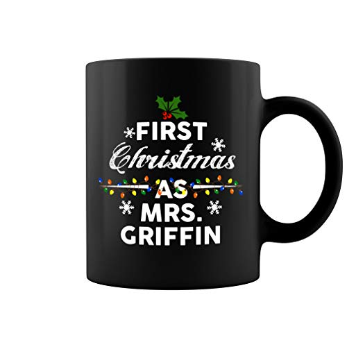 First Christmas as Griffin Ceramic Coffee Mug Tea Cup (11oz, Black)