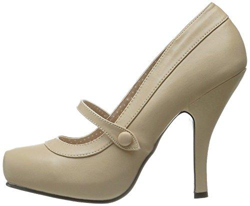 Pu Mujer Pinup De Cream Zapatos Tacón Couture qTrwTIY