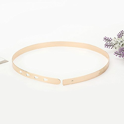 DCY Pièces d'or féminin en métal fer miroir ceintures