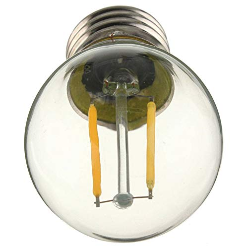 E27 G45 2W bombilla LED Edison Retro COB Light, luz de filamento regulable COB light 110V 220V blanco/cálido blanco: Amazon.es: Iluminación