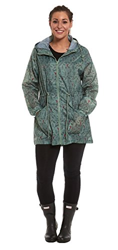Parka Green Mac Showerproof Jacket Raincoat Ladies Light qWwY1pqI