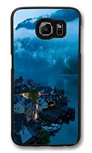 Hallstatt town Polycarbonate Hard Case Cover for Samsung S6/Samsung Galaxy S6 Black
