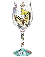Lolita Trollslända sommar hantverkare målat vinglas present