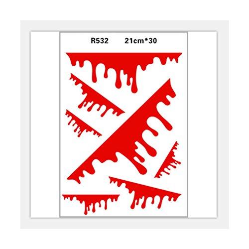 Edtoy Simulation Bullet Hole Crack Graffiti Sticker Fashion Label Art for Car (Blood -