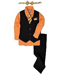 Johnnie Lene Pinstripe Boys Formal Dresswear Vest Set