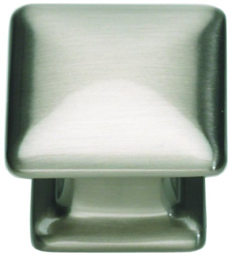 Atlas Homewares 322-BRN 1.25-Inch Alcott Square Knob from the Alcott Collection, Brushed Nickel