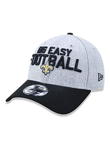 - New Era New Orleans Saints 2018 NFL Draft Official On-Stage 39THIRTY Flex Hat - Heather Gray/Black (Sm/Med)