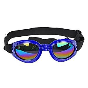 c95d0be9df9a7 Amazon.com   Dog Sunglasses Cute Fashion Foldable Waterproof UV Protection  Dog Goggles with Adjustable Strap for Small