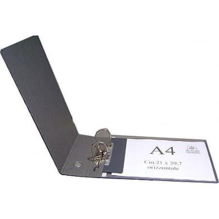 Clam Raccoglitore Per Buste Orizzontali E Fogli Uni A4 Dorso 8 Cm, Meccanismo A Leva. Colore : NERO