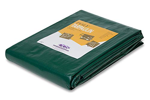 Heavy Duty Green Silver Poly Tarp (20 feet x 30 feet)