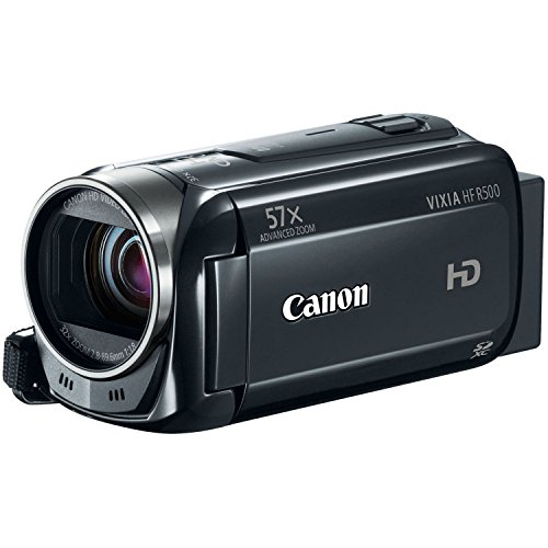Canon VIXIA HF R500 Digital Camcorder (Black) (Discontinued by Manufacturer) (Renewed)