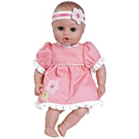 """Adora PlayTime Baby Garden Party Vinyl 13"""" Girl Weighted Washable Cuddly Snuggle Soft Toy Play Doll Gift Set with Open/Close Eyes for Children 1+ Includes Bottle"""