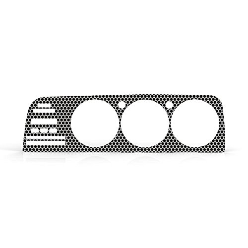 Metal Mesh Print Gauge Cluster Dash Bezel Trim fits: 1974-1988 Jeep J10 Circle T/S - Ferreus Industries - BZL-363-Metal-Mesh-088-02
