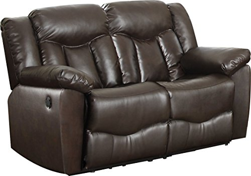 NHI Express James Motion Loveseat (1 Pack), Brown