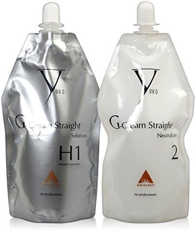 YUKO G Cream Straight Solution Cream H1 800ml Natural coarse hair