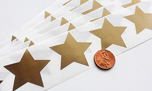 Scratch Off GOLD Star Label 1.5