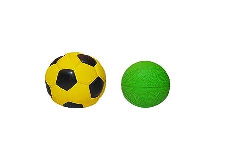 LATEXA Pelota de fútbol Amarilla + Pelota de básket Verde: Amazon ...