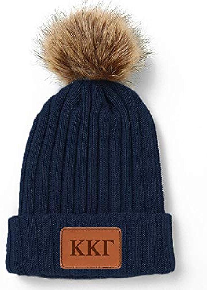 Delta Gamma Pom Pom Beanie Hat