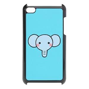Super Cute Cartoon Elephant Blue Hard Case For iPod Touch 4 4G